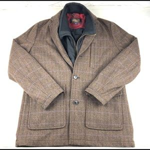 Pendleton Men's Heavy wool coat herringbone XL